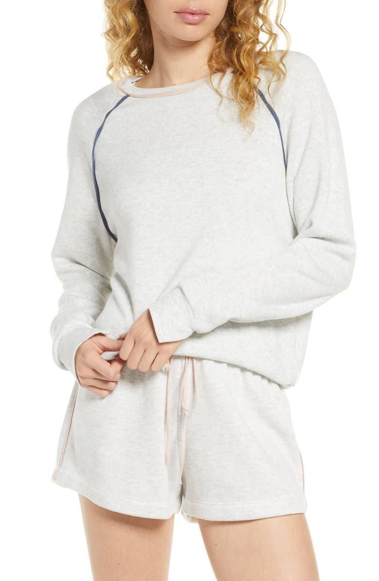 PROJECT SOCIAL T On A Roll Lounge Sweatshirt, Main, color, OATMEAL