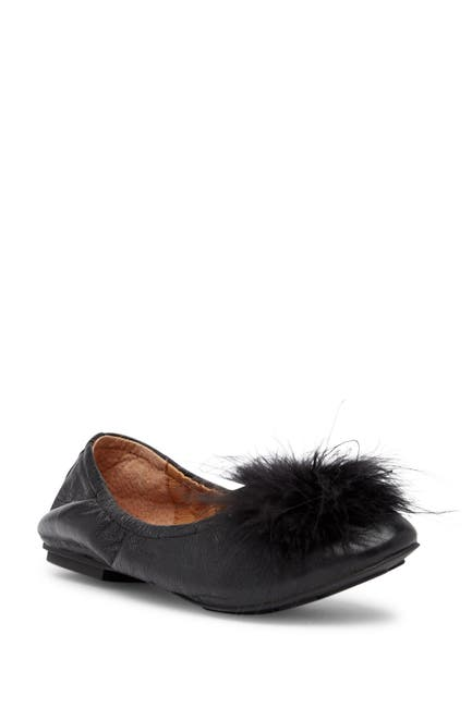 Image of GENTLE SOULS SIGNATURE Portia Genuine Turkey Feather Pompom Flat