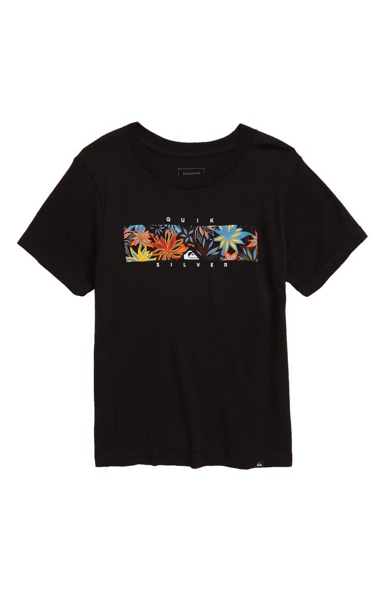 QUIKSILVER Box Heat T-Shirt, Main, color, BLACK