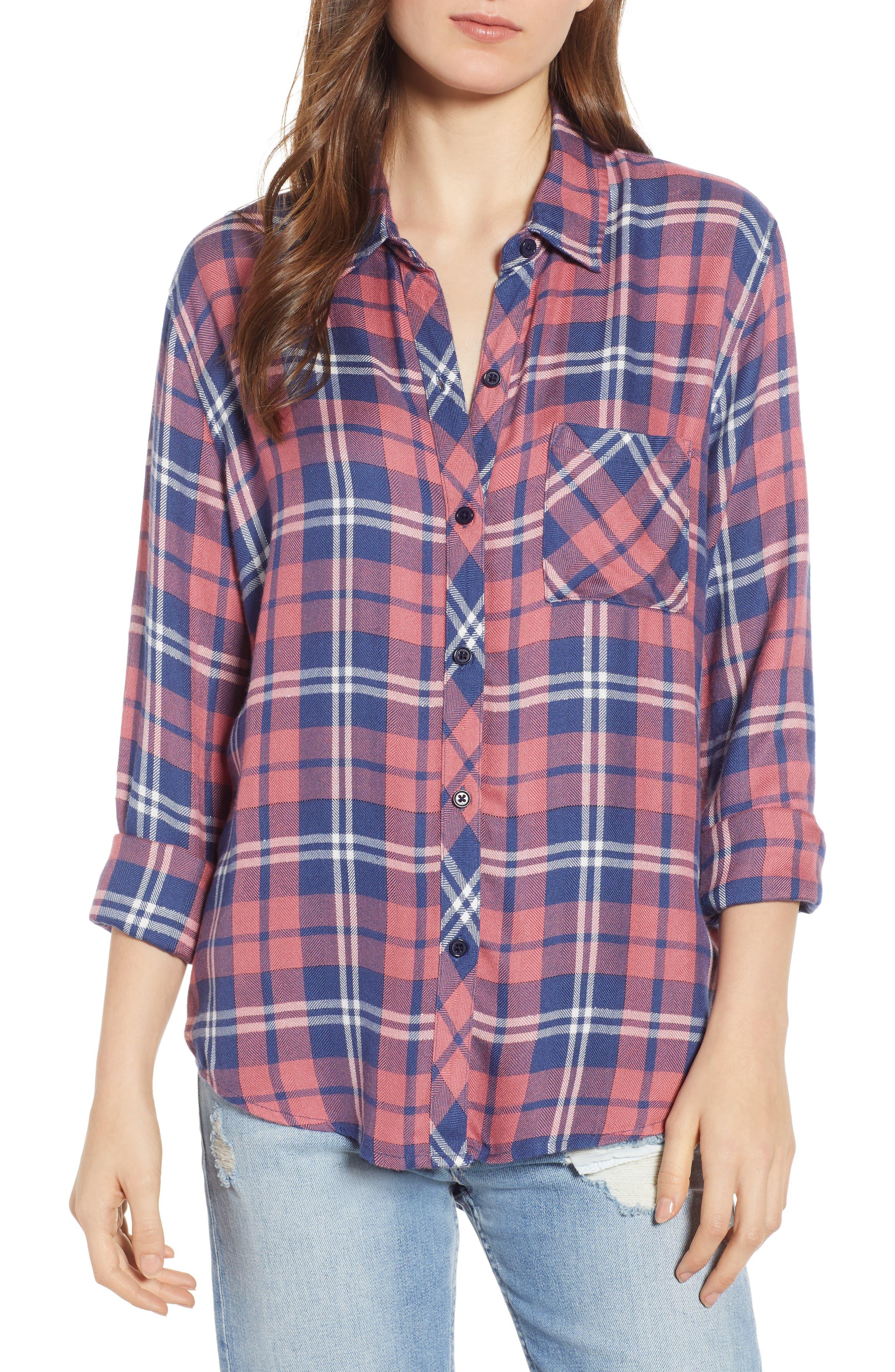 ,                             Hunter Plaid Shirt,                             Main thumbnail 423, color,                             603