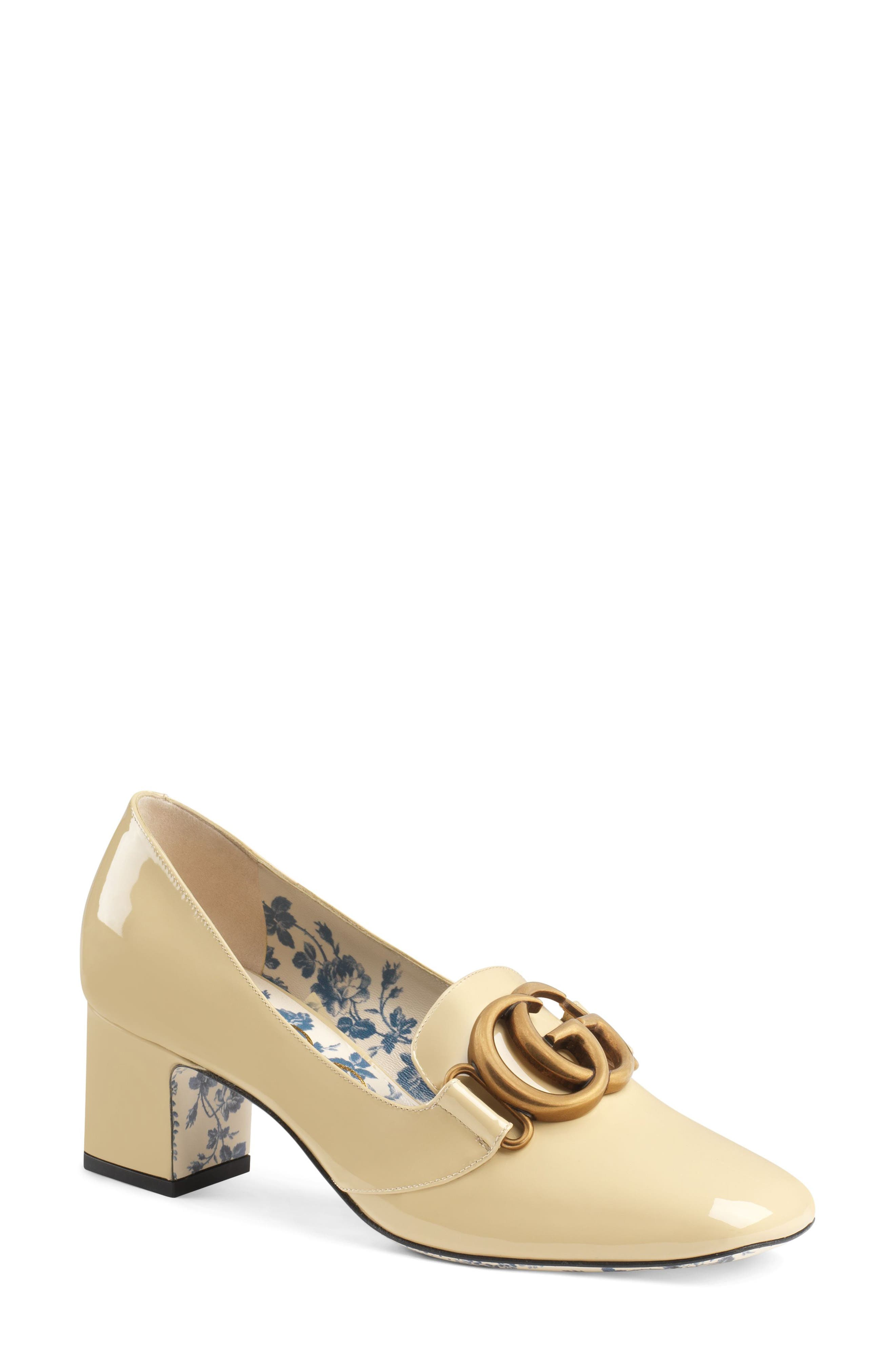 Gucci Loafer Pump - Ivory