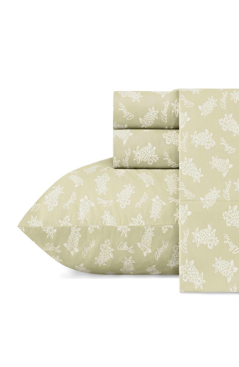 TOMMY BAHAMA Aloha Pineapple Set of 2 Pillowcases, Main, color, SAGE