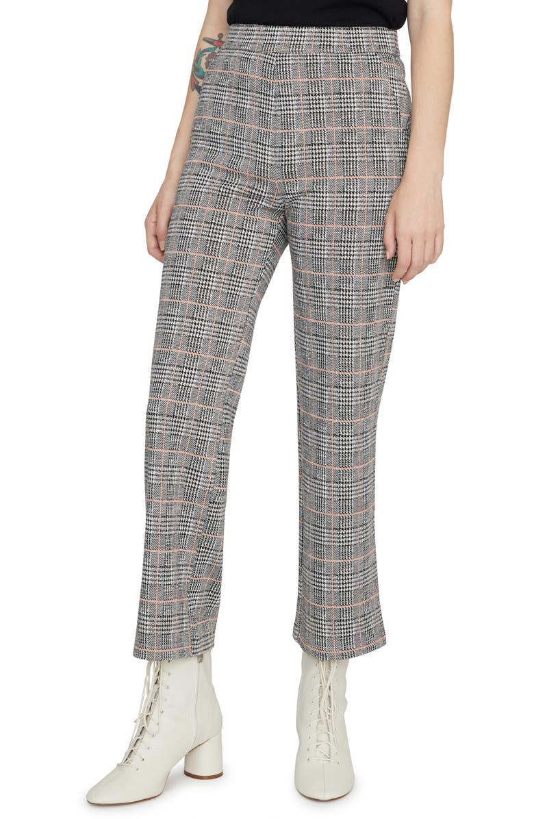 SANCTUARY The Runway Plaid Crop Pants, Main, color, FIZZ PLAID