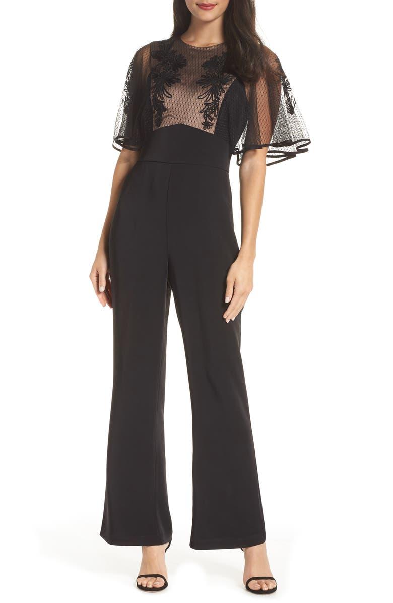 HARLYN Soutache Lace Jumpsuit, Main, color, 001