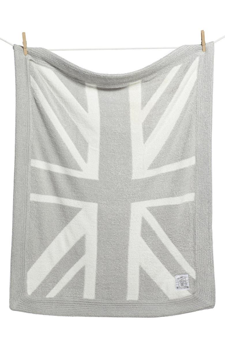 LITTLE GIRAFFE 'Dolce Union Jack' Blanket, Main, color, 020