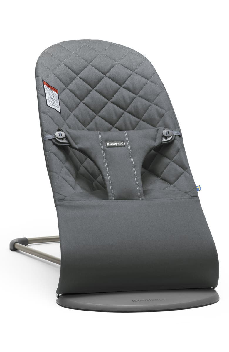 BABYBJÖRN Bouncer Bliss Convertible Quilted Baby Bouncer, Main, color, ANTHRACITE