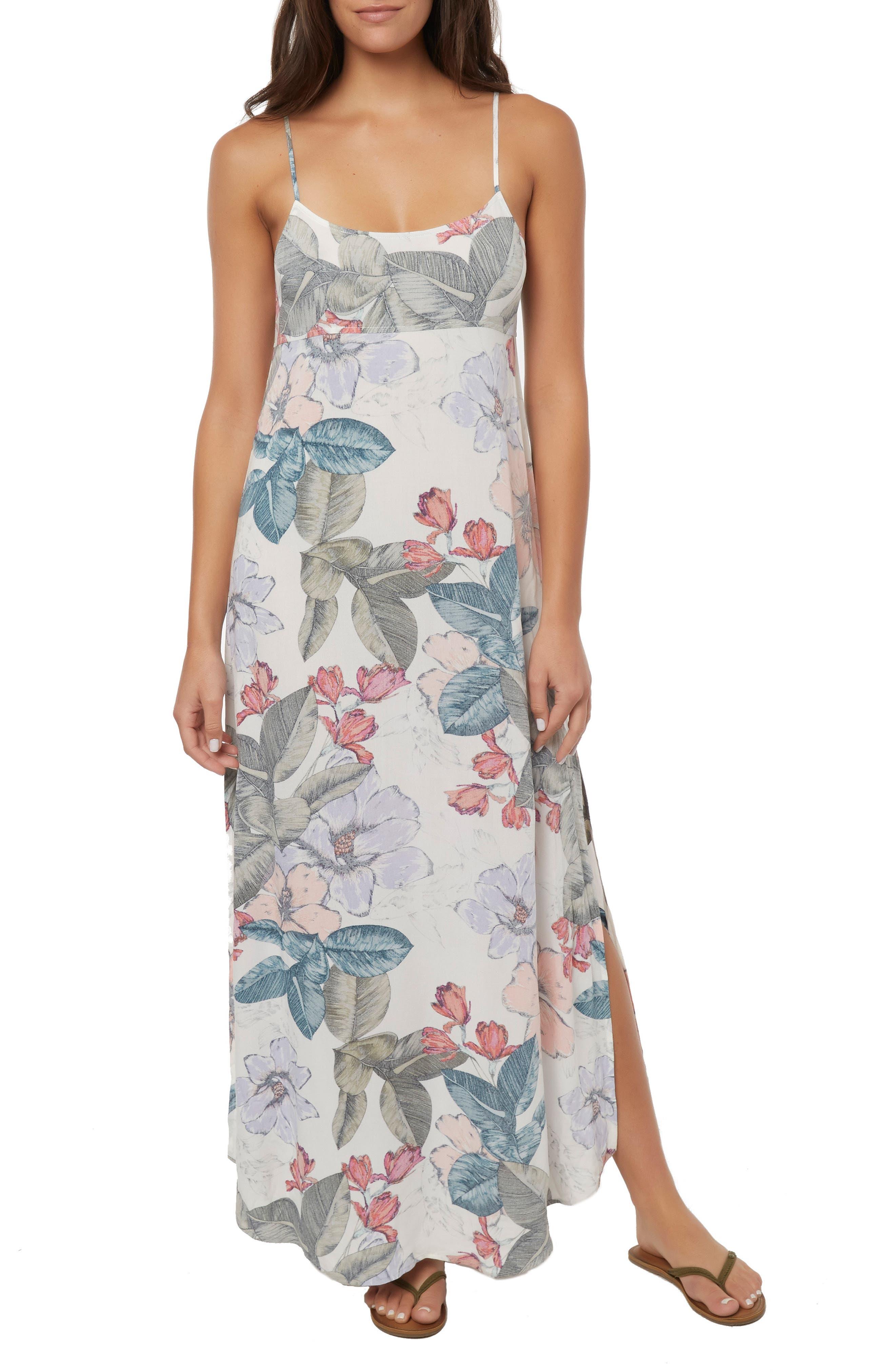 Koinne Floral Print Maxi Dress, Main, color, 900