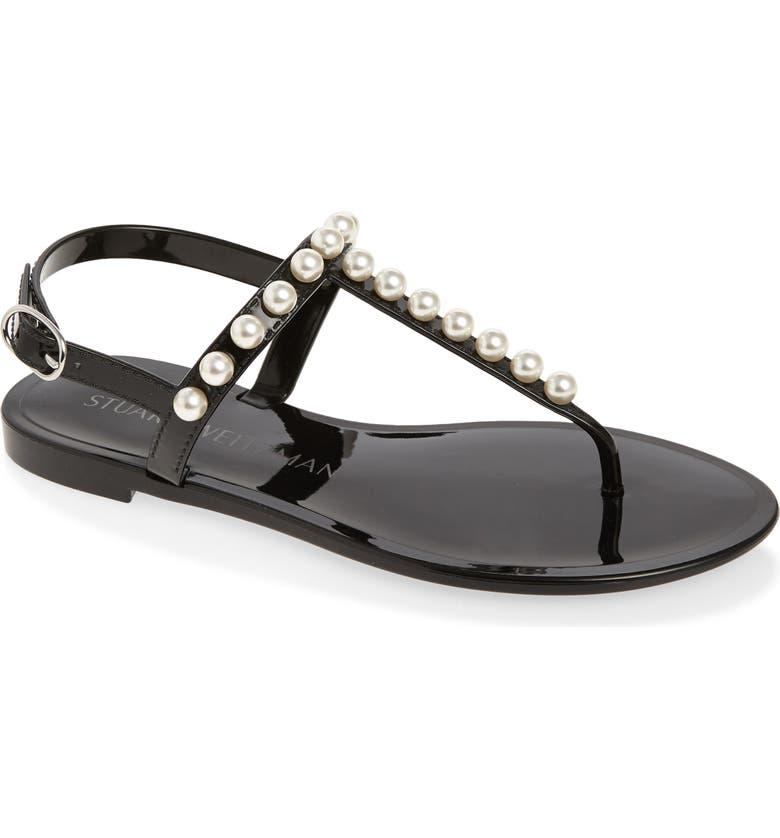 STUART WEITZMAN Goldie Jelly Sandal, Main, color, BLACK