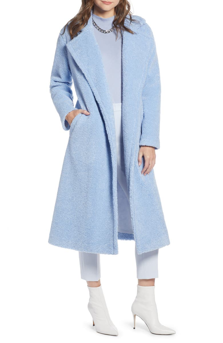 SOMETHING NAVY Teddy Faux Fur Coat, Main, color, 450