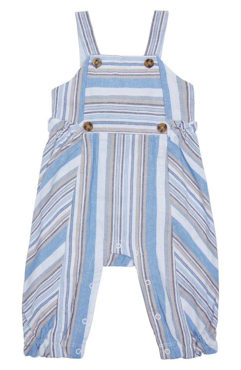 HABITUAL Kids Thea Stripe Overalls, Main, color, 100