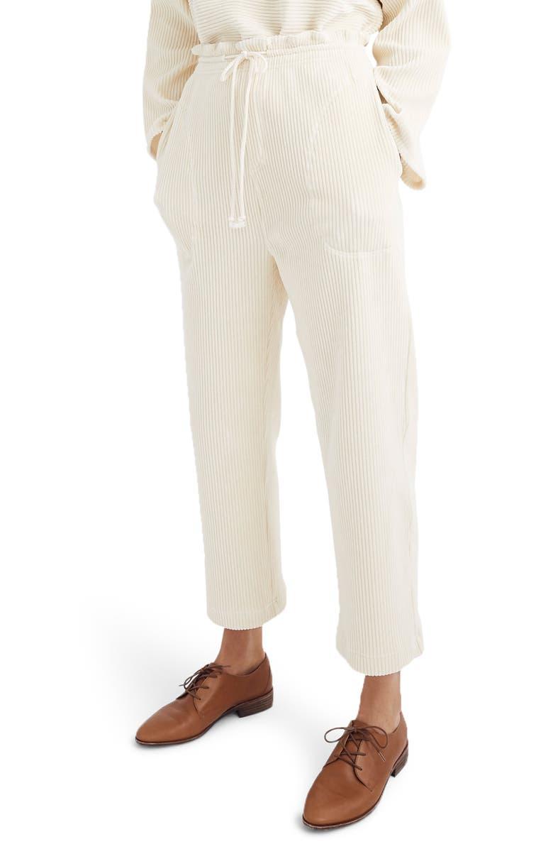 MADEWELL Texture & Thread Velour Corduroy Pants, Main, color, 100