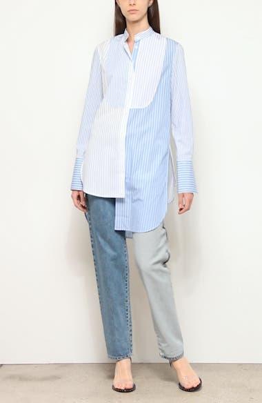 Mixed Stripe Asymmetrical Shirt, video thumbnail