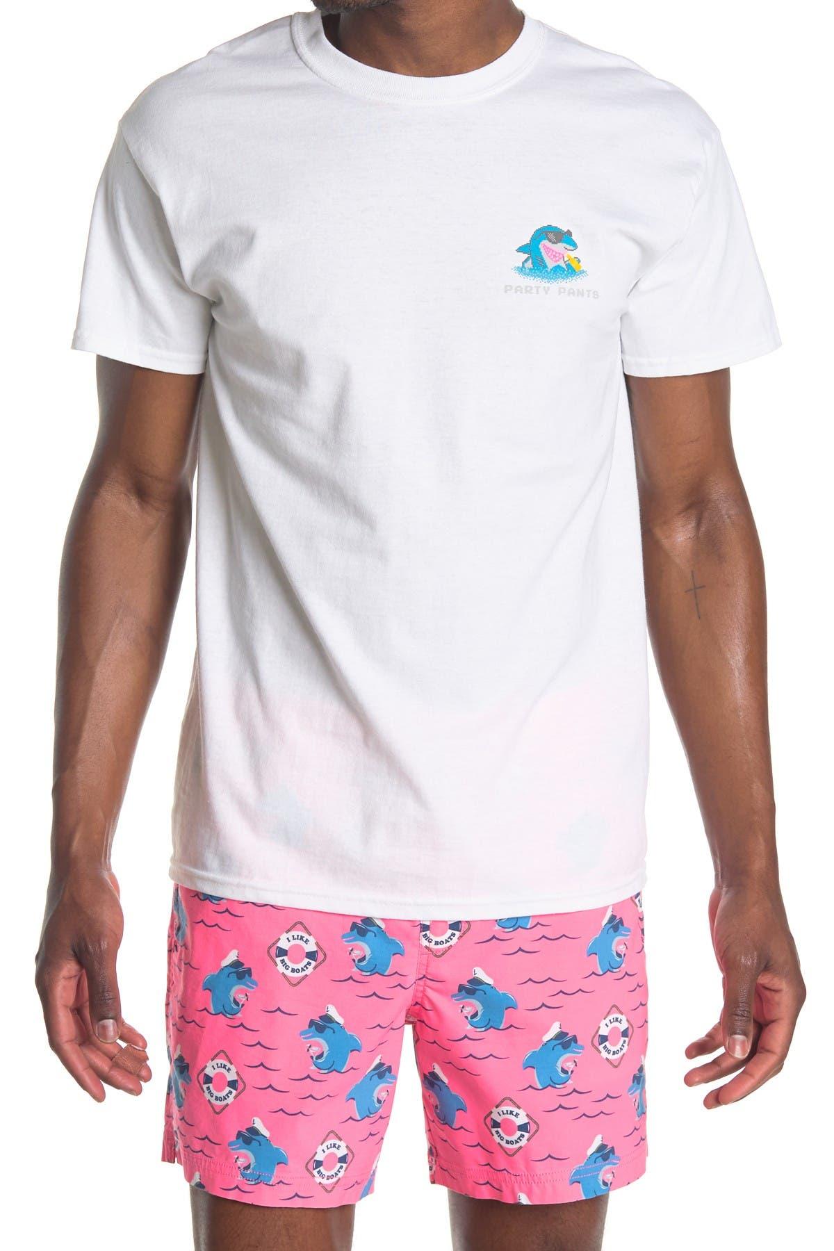 Image of PARTY PANTS Cooler Shark Short Sleeve T-Shirt