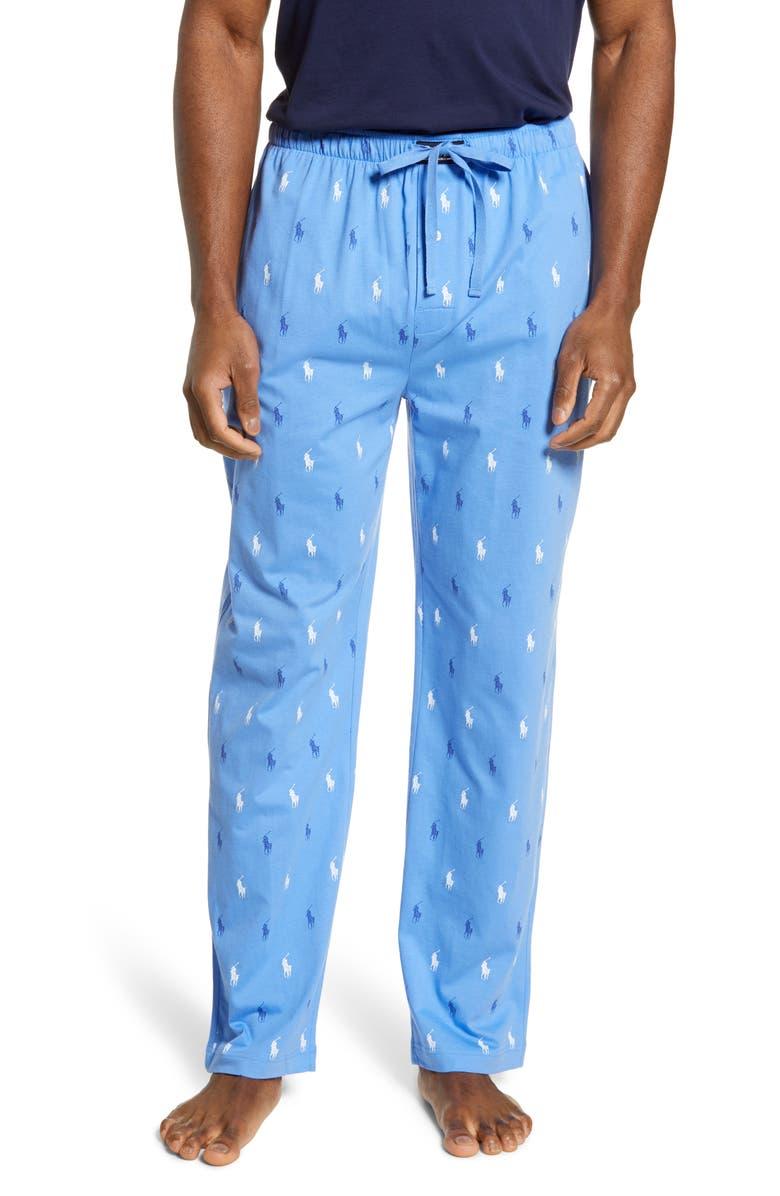 POLO RALPH LAUREN Allover Print Knit Lounge Pants, Main, color, 412