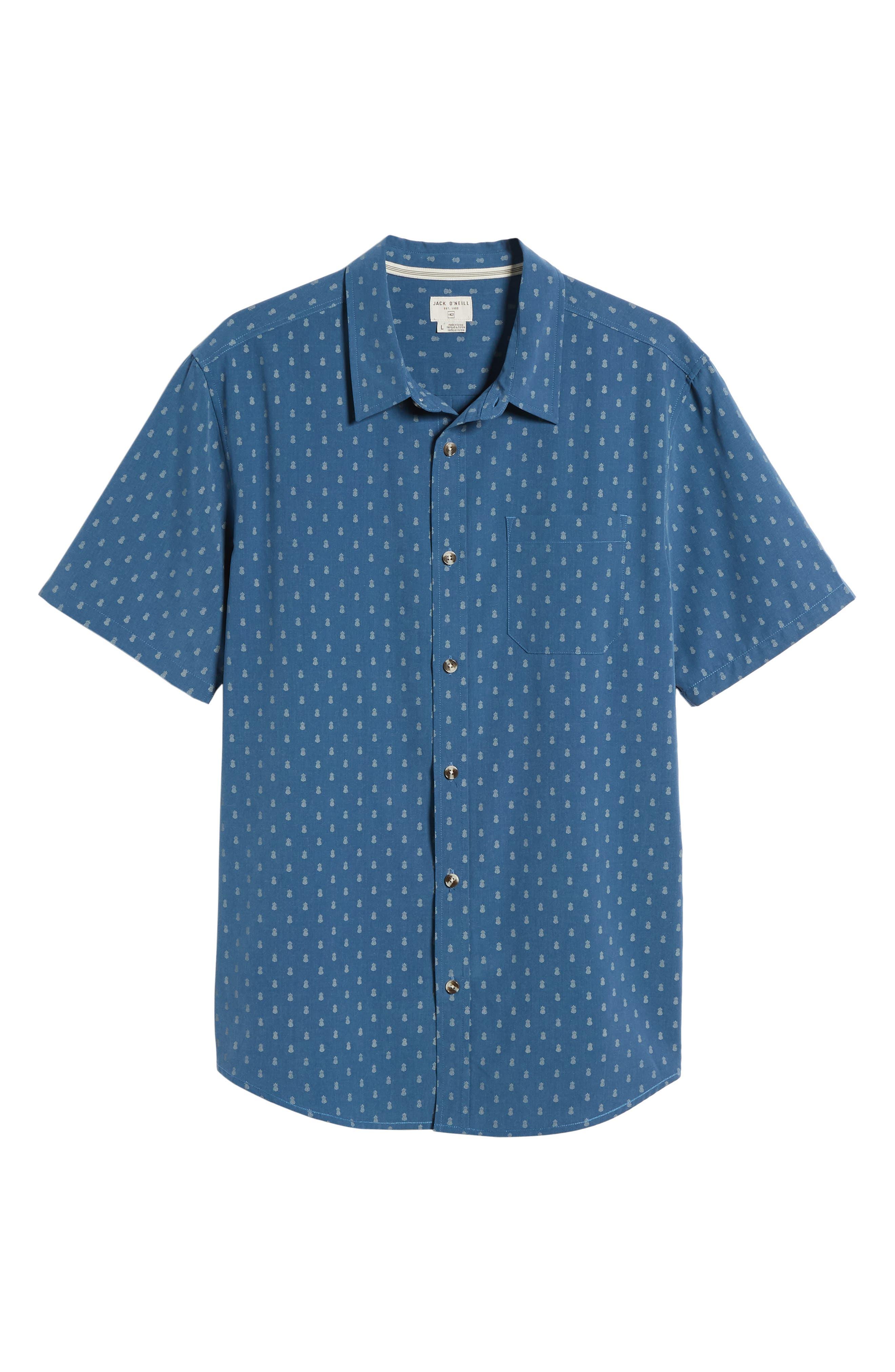 ,                             Home Grown Pineapple Sport Shirt,                             Alternate thumbnail 6, color,                             COBALT