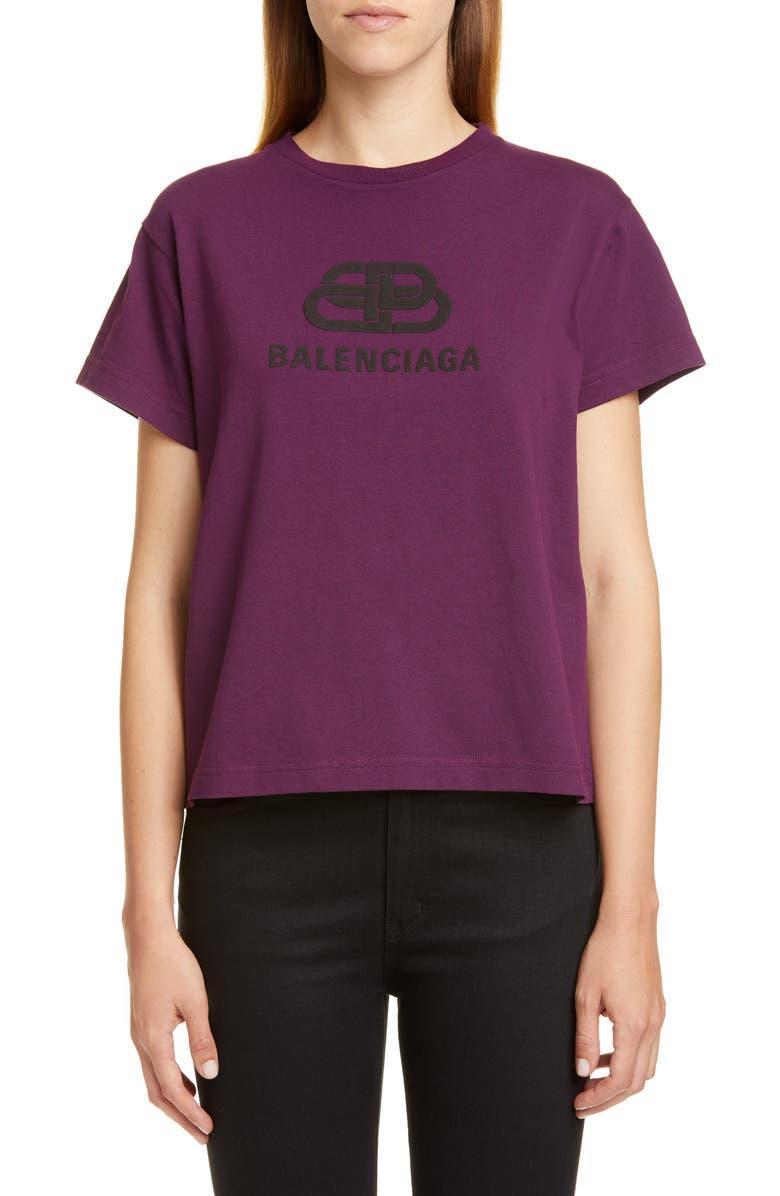 BALENCIAGA New BB Logo Tee, Main, color, 500
