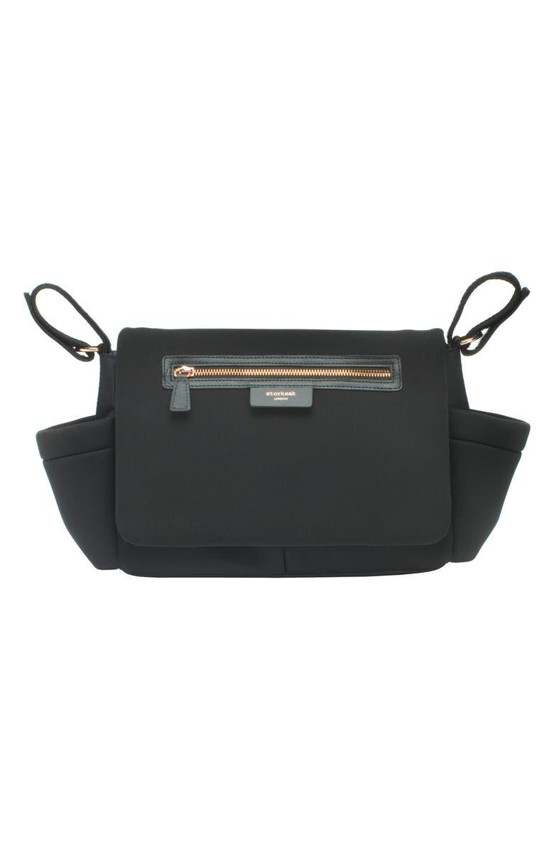 STORKSAK Luxe Stroller Organizer, Main, color, SCUBA BLACK