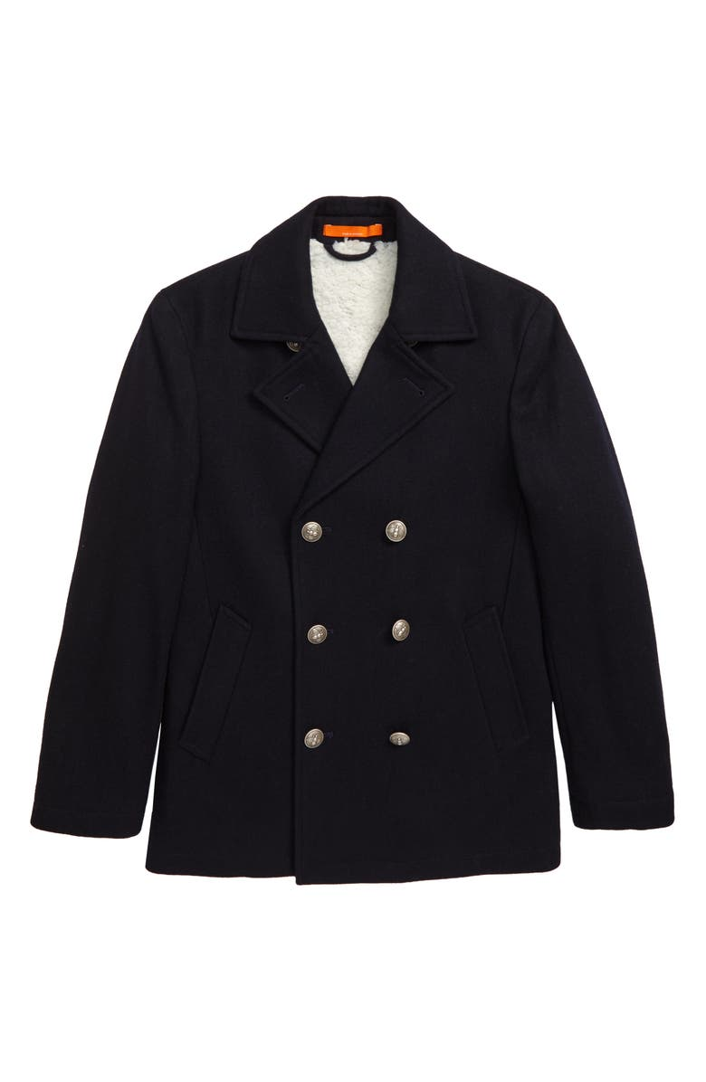 TALLIA Fleece Lined Peacoat, Main, color, 415