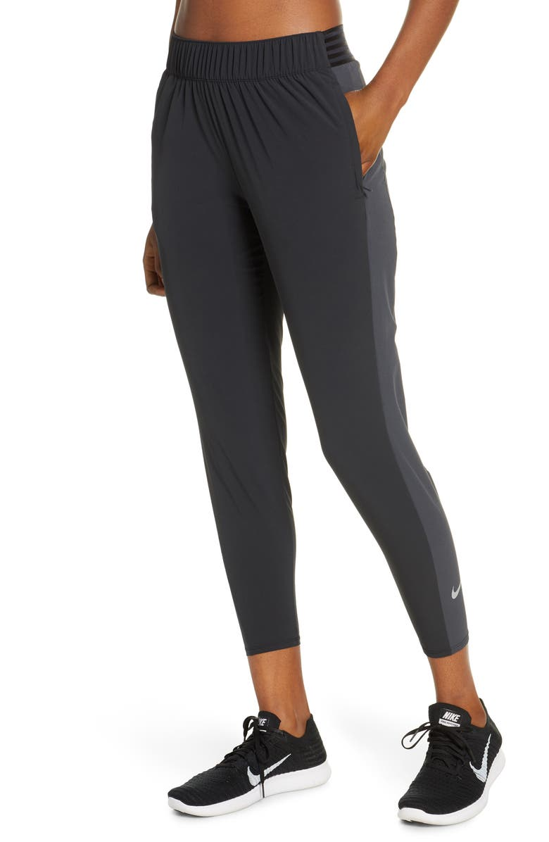 NIKE Essential 7/8 Running Pants, Main, color, BLACK/ DK SMOKE GREY/