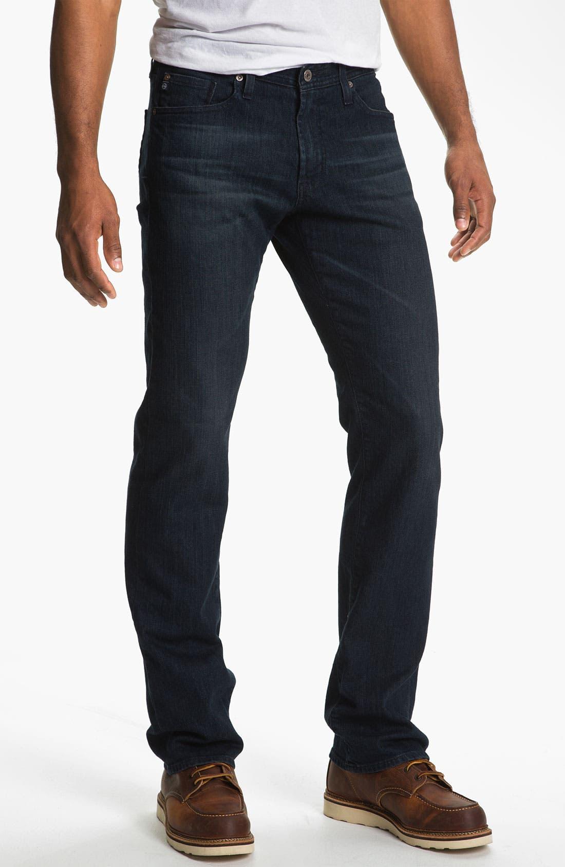,                             'Protégé' Straight Leg Jeans,                             Main thumbnail 18, color,                             409