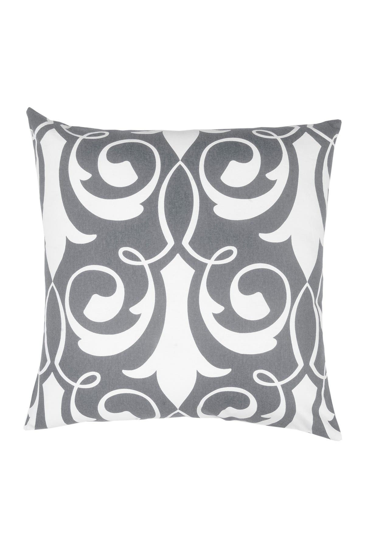 """Image of DIVINE HOME Gray Damask Throw Pillow - 20""""x20"""""""