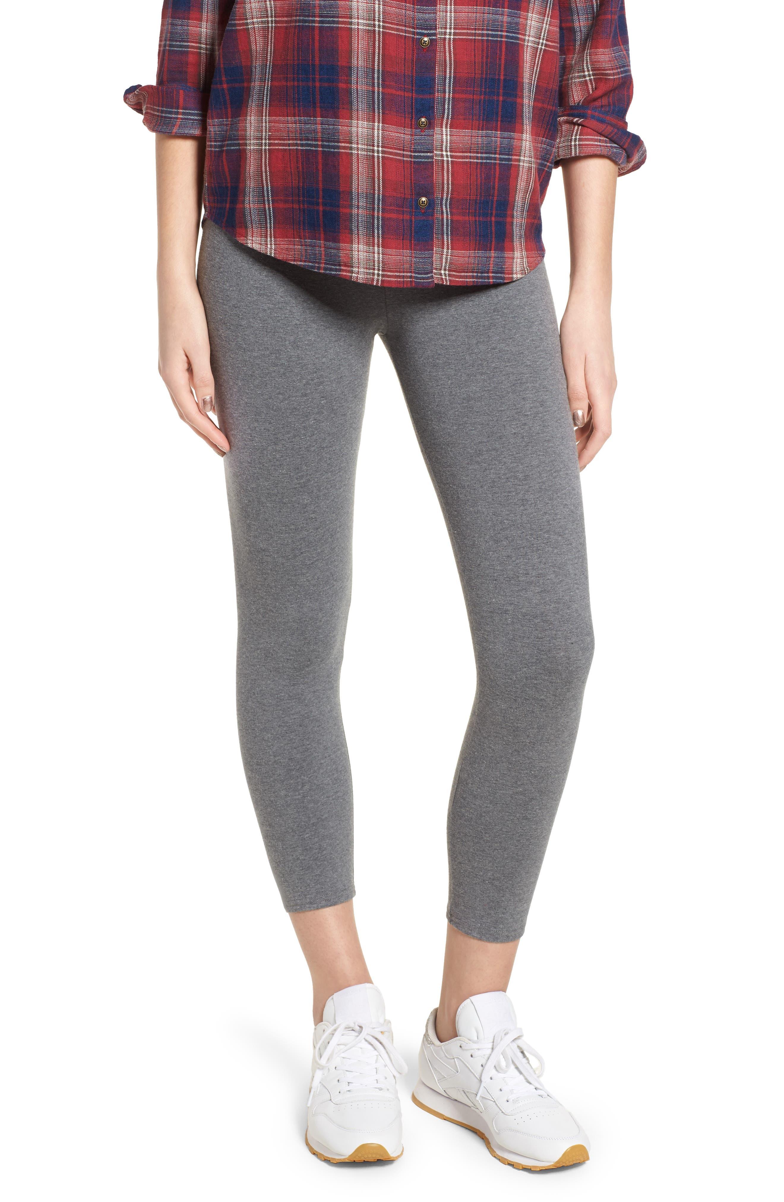 Nordstrom High Waist Crop Leggings, Grey