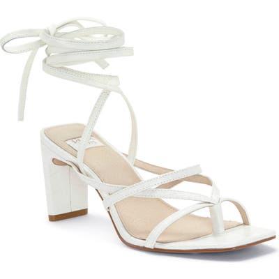 Louise Et Cie Lehana Wraparound Ankle Strap Sandal, White