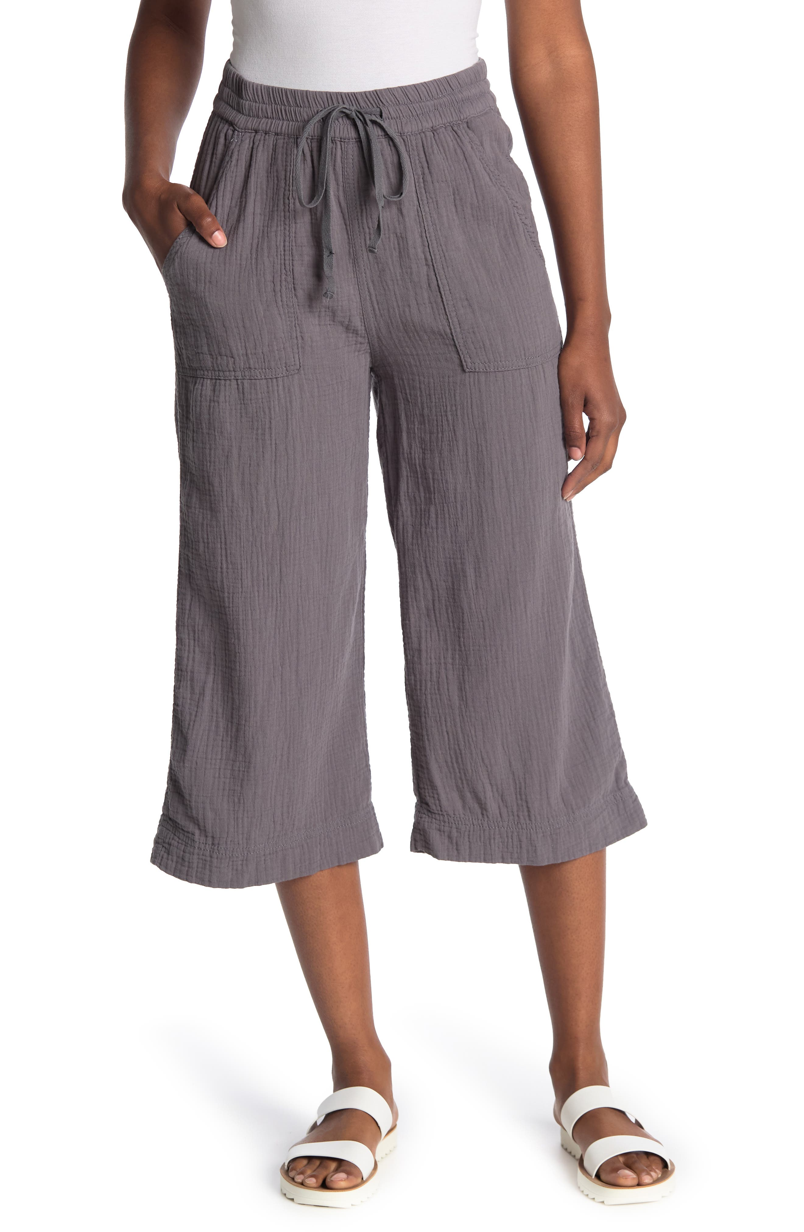 Image of SUPPLIES BY UNIONBAY Dennie Double Face Gauze Crop Pants