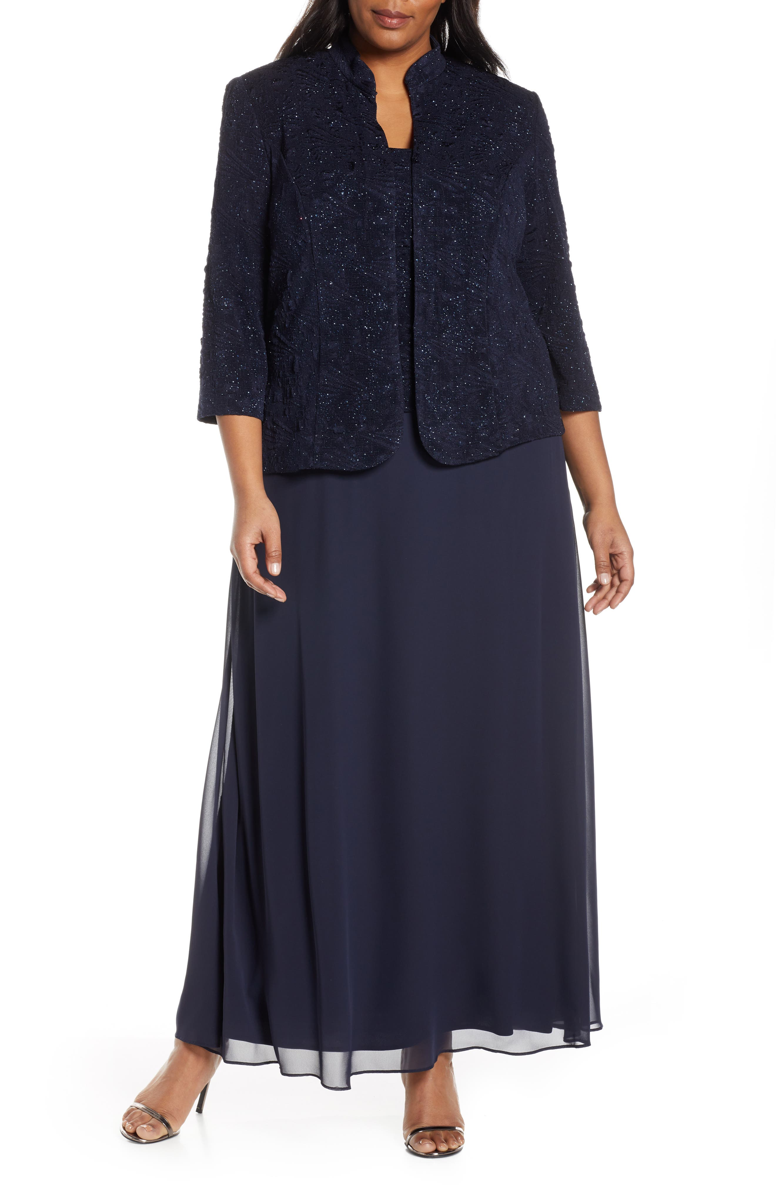 Mock Two-Piece Gown With Jacket