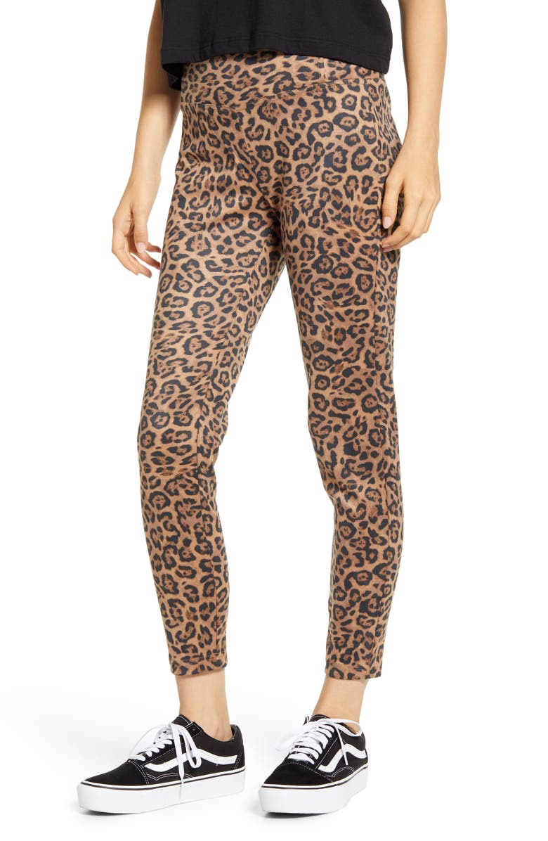 TINSEL Leopard Print High Waist Leggings, Main, color, LEOPARD