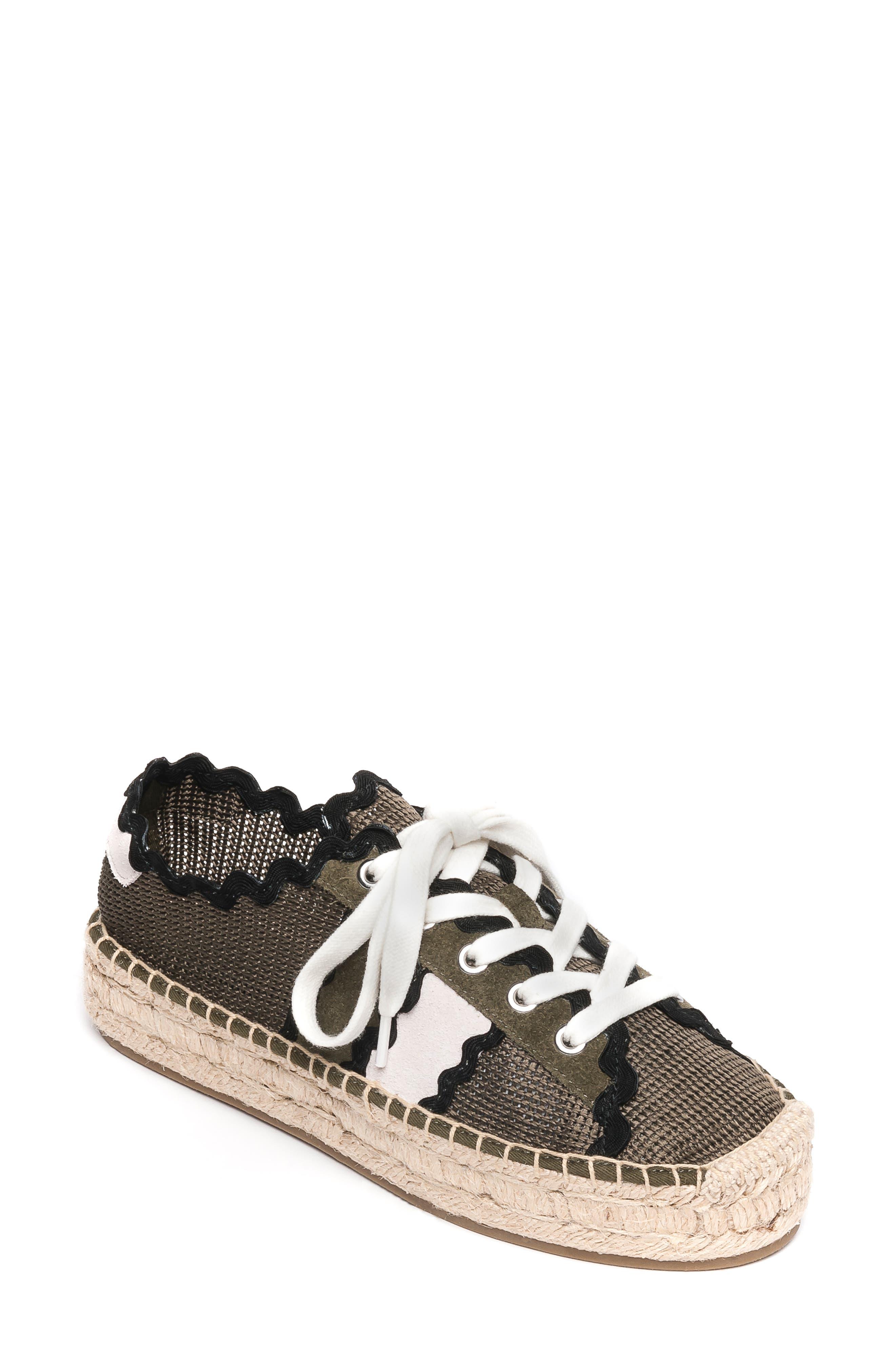 Bernardo Vale Espadrille Sneaker, Green