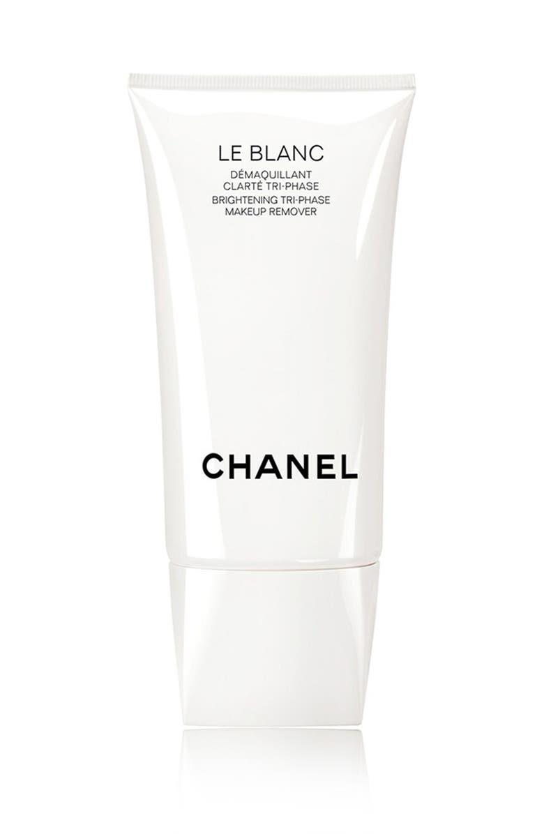 CHANEL LE BLANC <br />Brightening Tri-Phase Makeup Remover, Main, color, NO COLOR