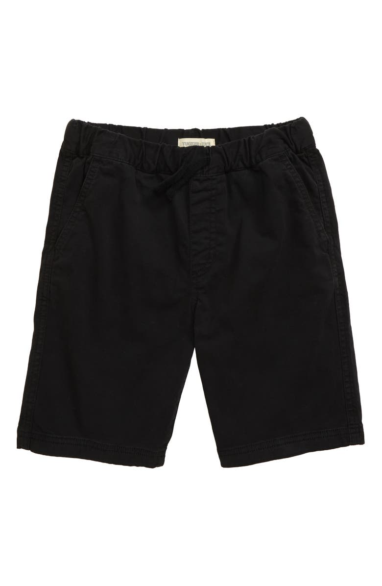 TUCKER + TATE Essential Twill Shorts, Main, color, BLACK