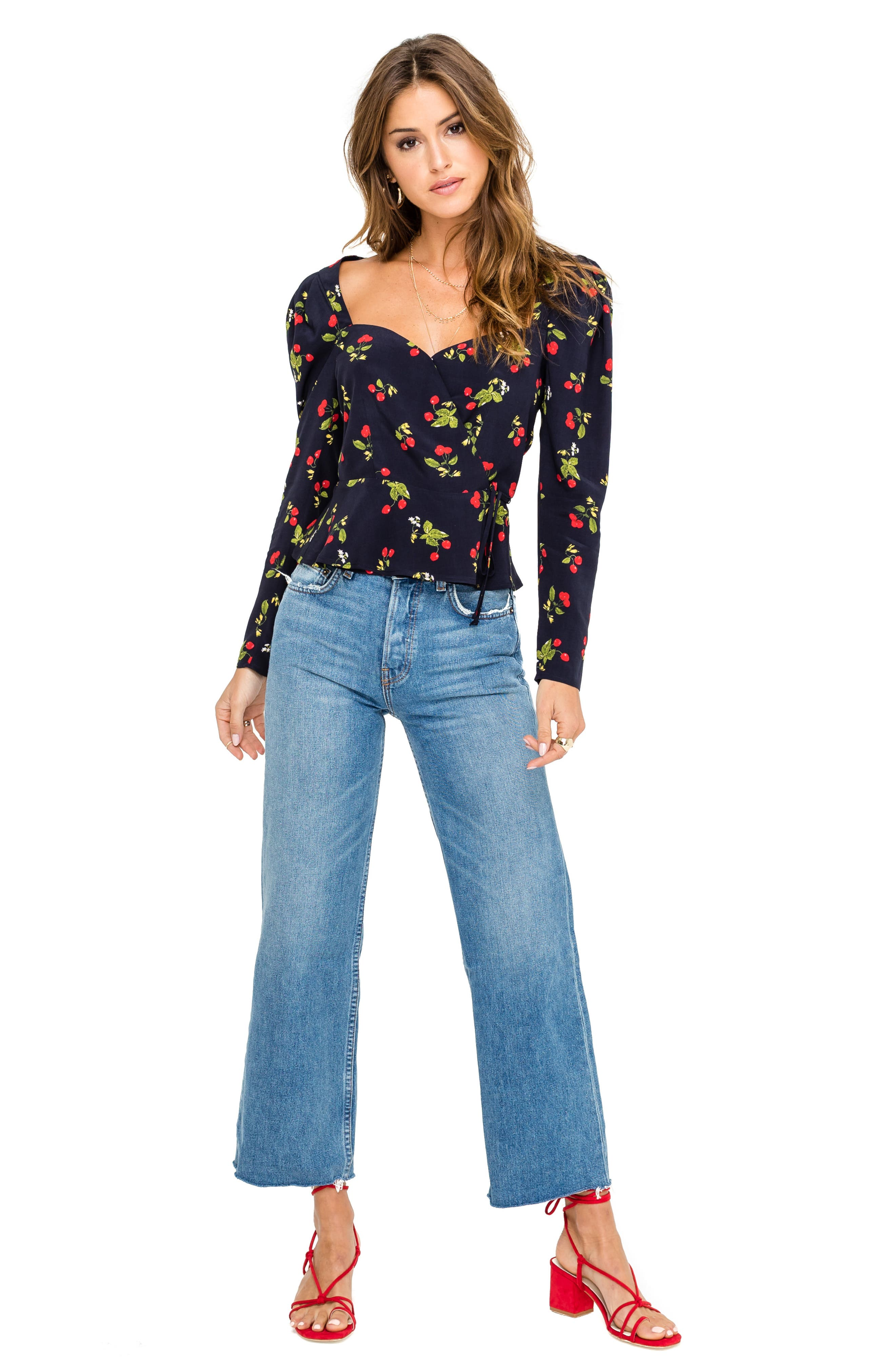 ,                             Sweetheart Wrap Front Top,                             Alternate thumbnail 4, color,                             400