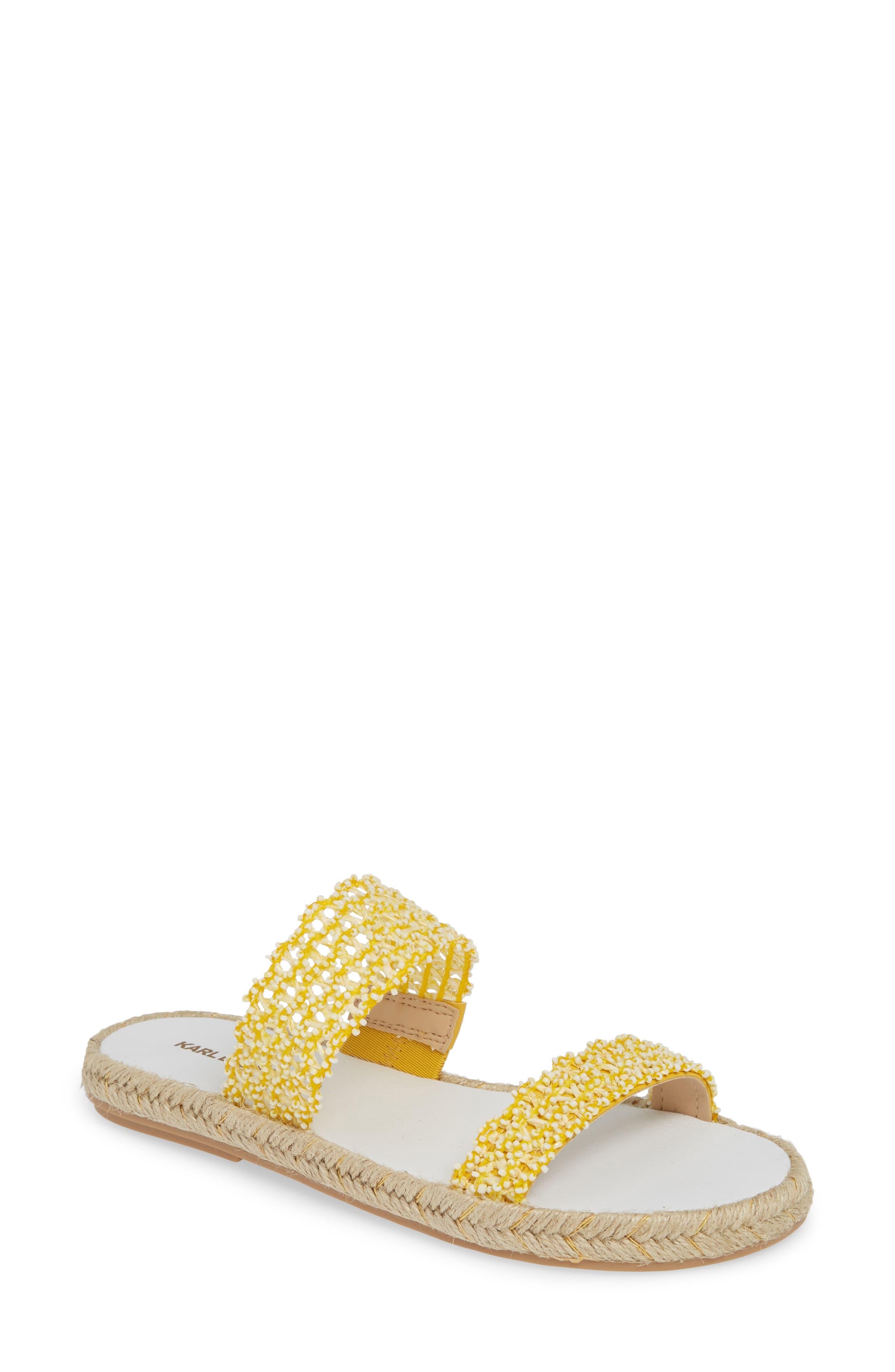 Karl Lagerfeld Paris Nita Slide Sandal, Yellow