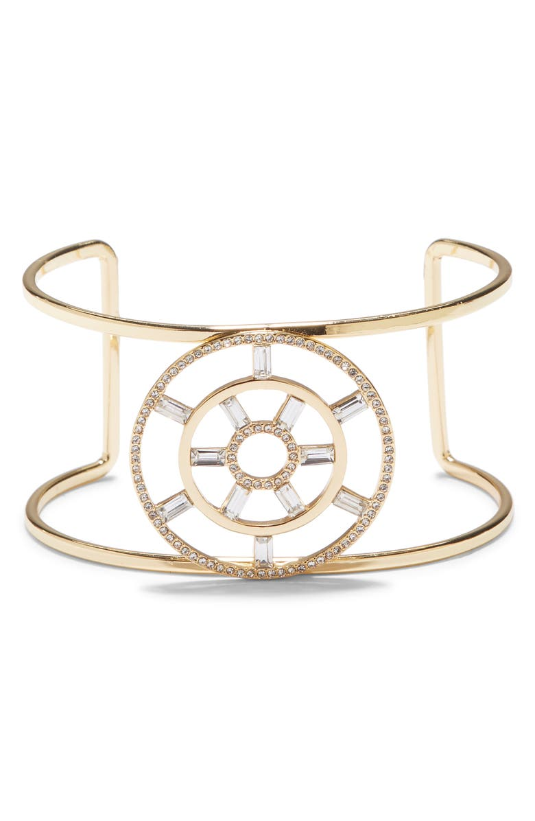 VINCE CAMUTO Large T Circle Crystal Cuff, Main, color, 710