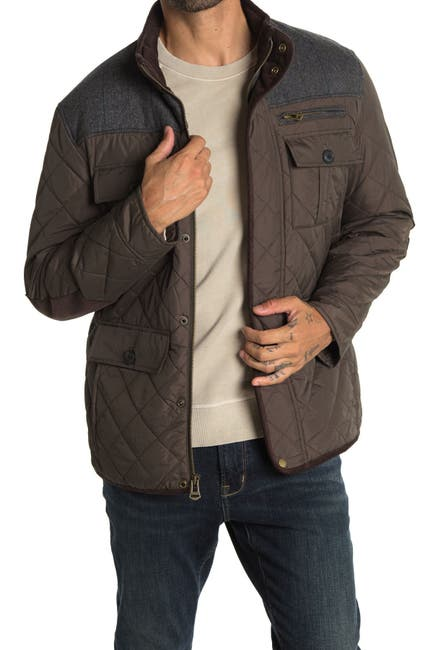 Image of Cole Haan Quilted Utility Pocket Jacket