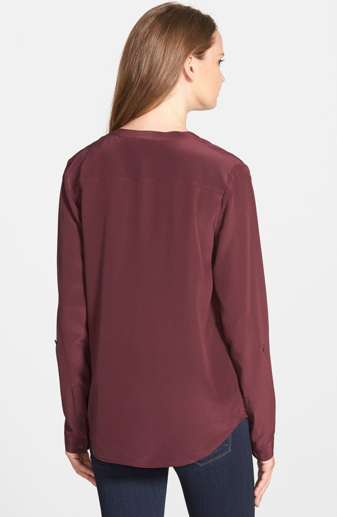 ,                             Collarless Silk Blouse,                             Alternate thumbnail 63, color,                             501