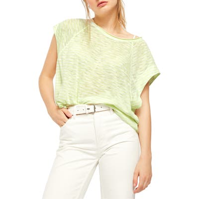 Free People Halo Stripe Tee, Green