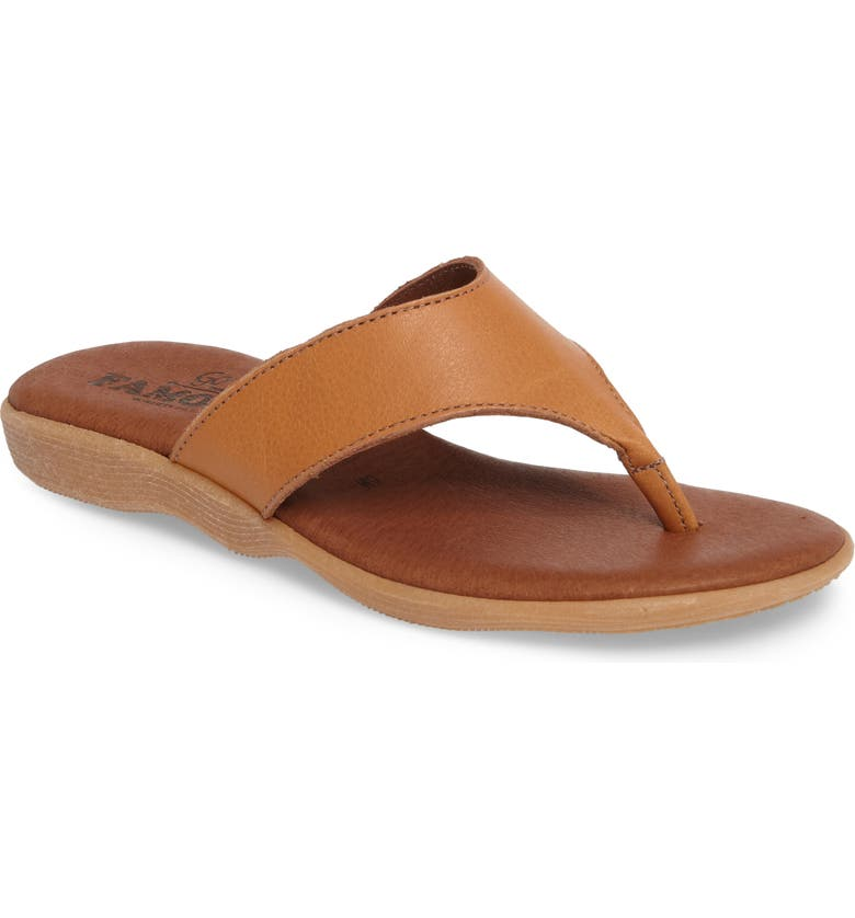 FAMOLARE Flippity Flop Flip Flop, Main, color, COGNAC LEATHER