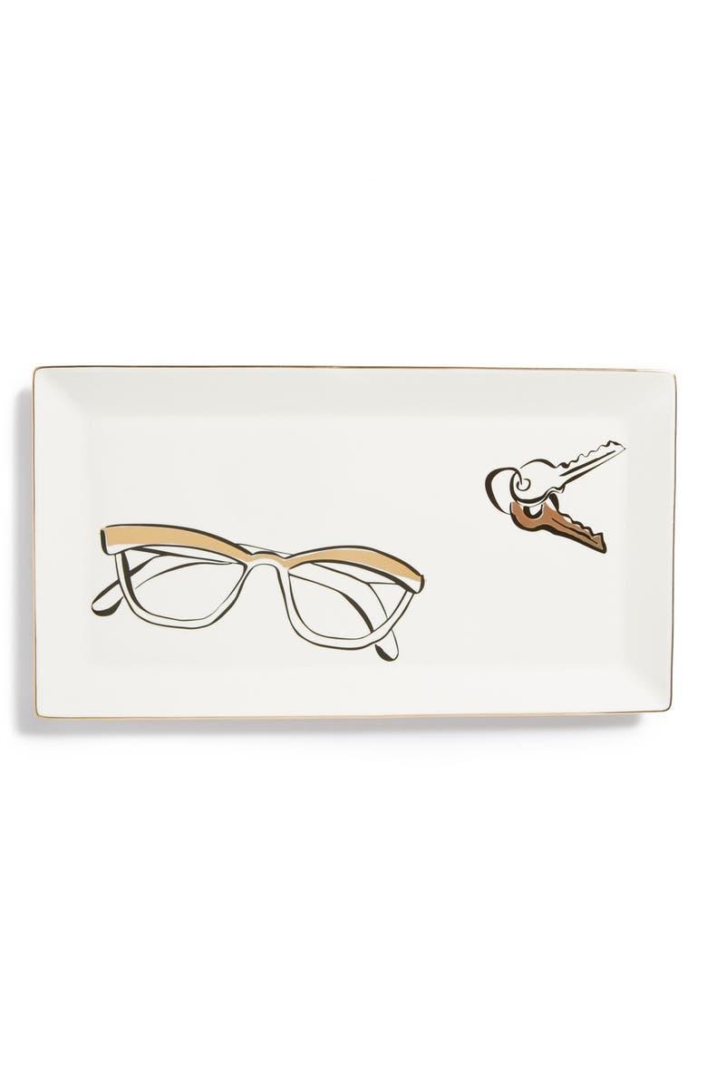 KATE SPADE NEW YORK 'eyeglasses' trinket tray, Main, color, 100