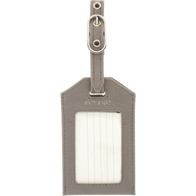 Matt & Nat Trotter Faux Leather Luggage Tag - Grey