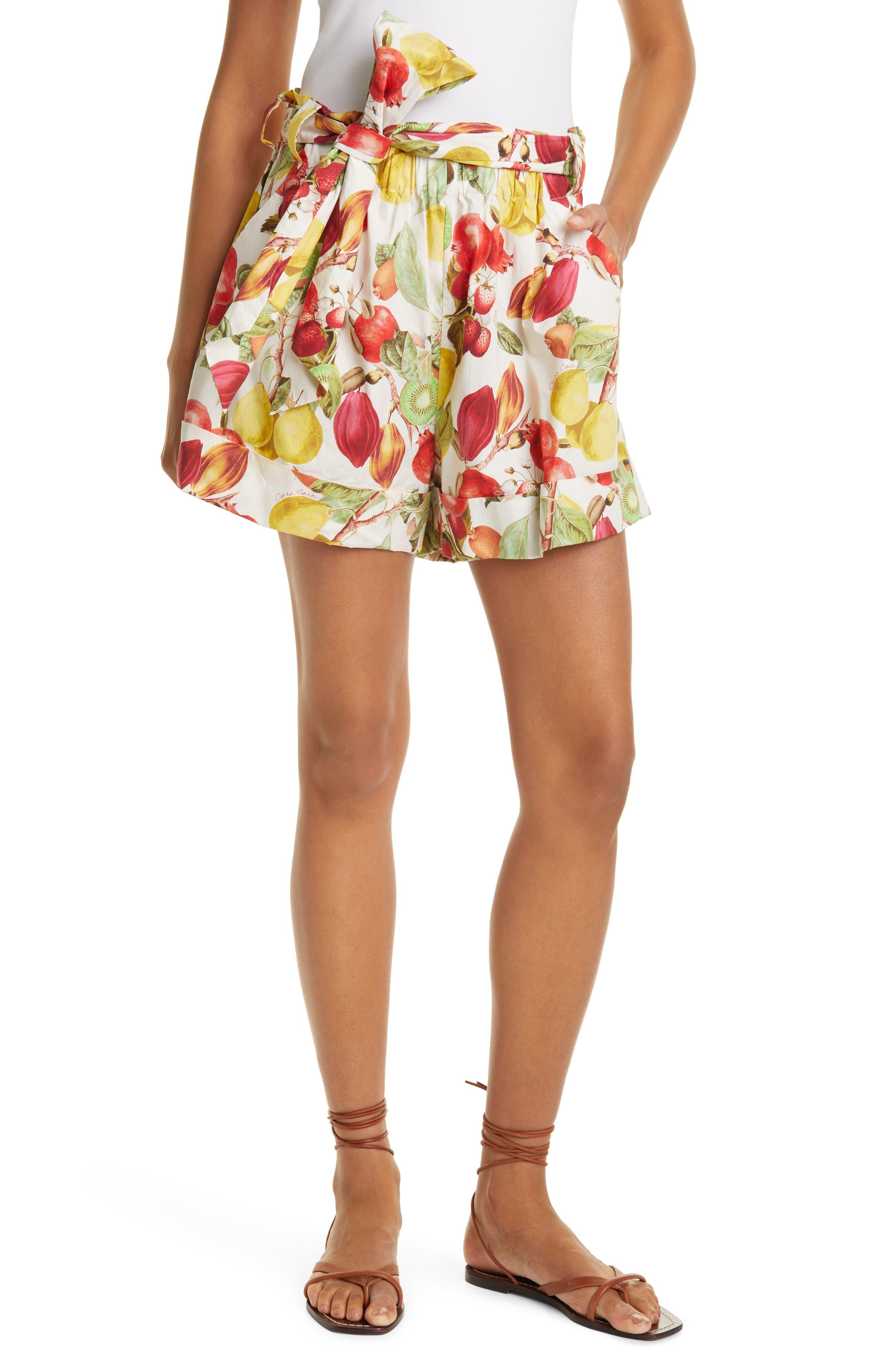 Whitney Belted Cotton Poplin Shorts