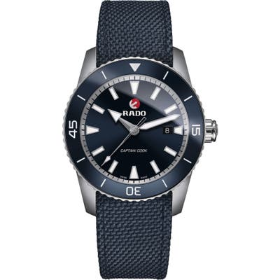 Rado Hyperchrome Captain Cook Fabric Band Watch, 45Mm