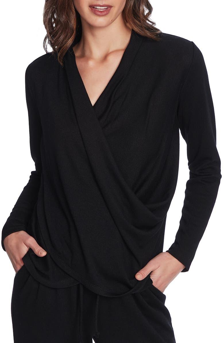 1.STATE Cozy Knit Top, Main, color, RICH BLACK