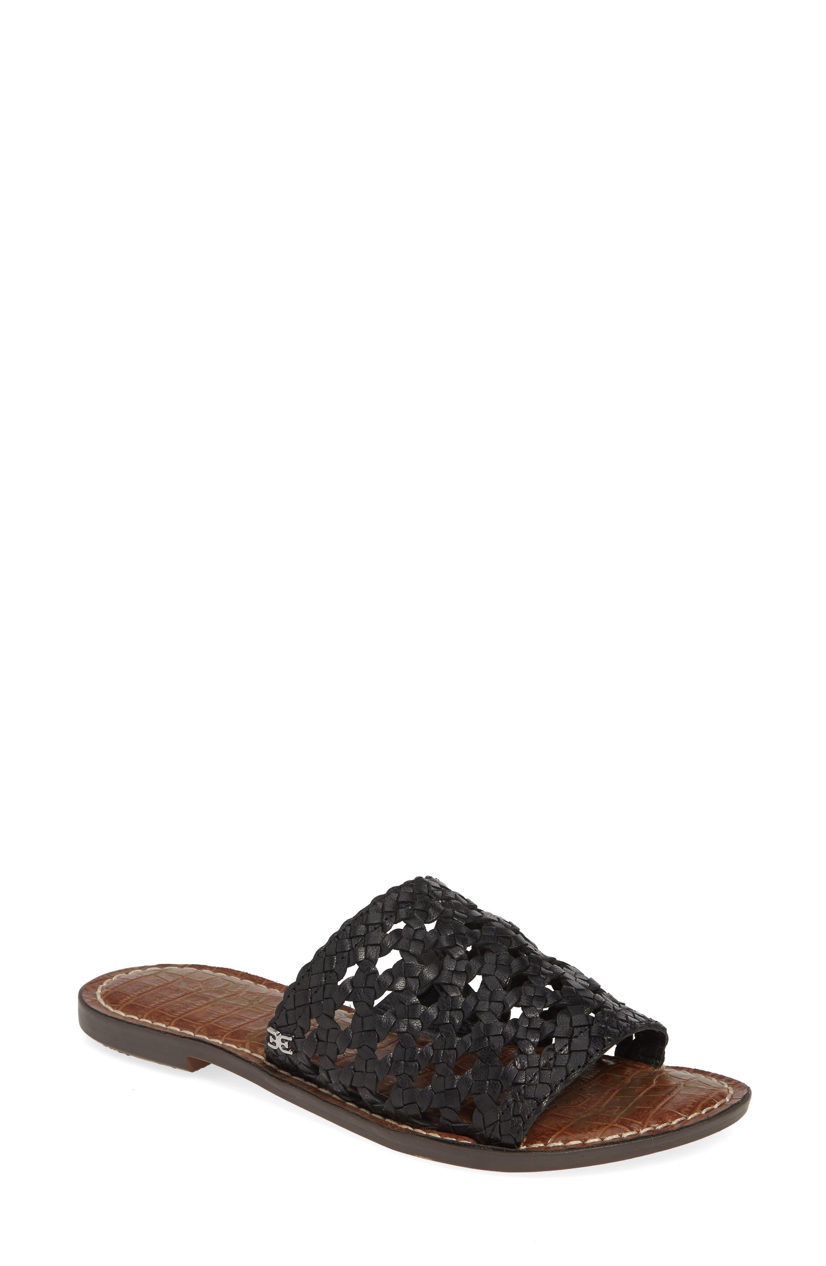 Sam Edelman Genovia Woven Slide Sandal, Black