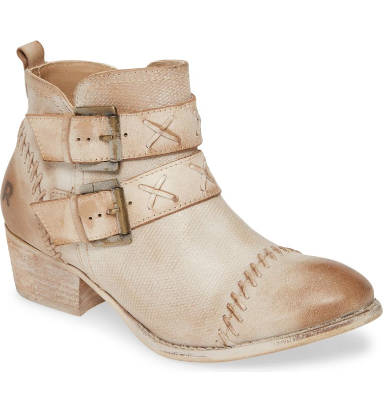 ROAN Dune Bootie, Main, color, BONE WHITE LEATHER