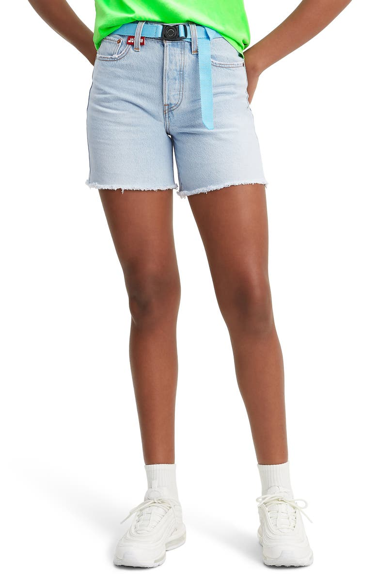 LEVI'S<SUP>®</SUP> Wedgie High Waist Denim Shorts, Main, color, 450