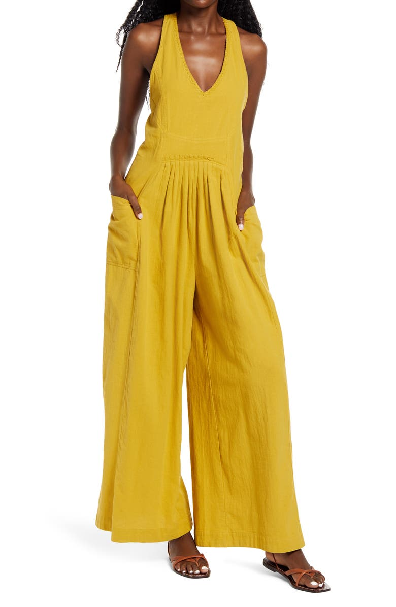 FREE PEOPLE Next Level Wide Leg Jumpsuit, Main, color, HONEY MALLOW