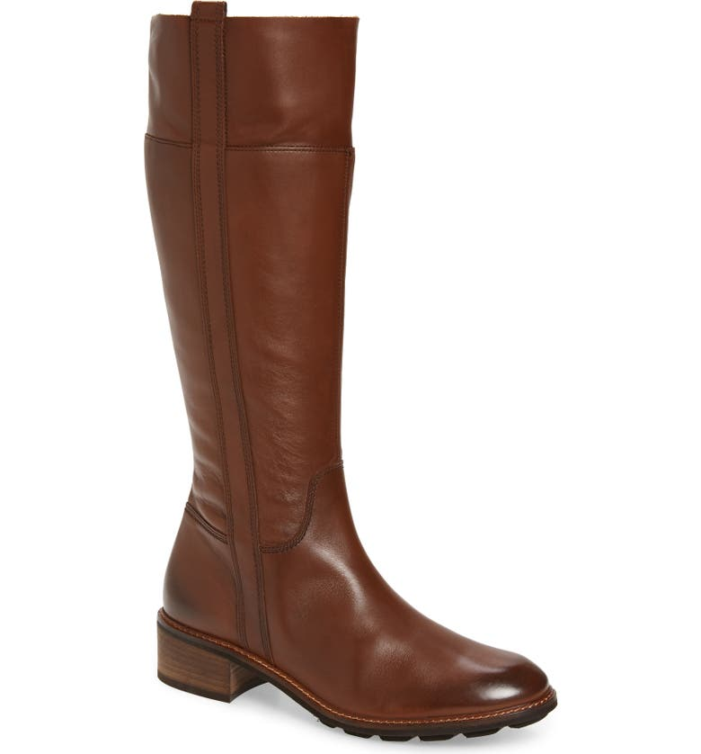 PAUL GREEN Camile Tall Boot, Main, color, BROWN